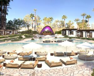 las vegas dayclub elia beach club pool beds and stage thumbnail