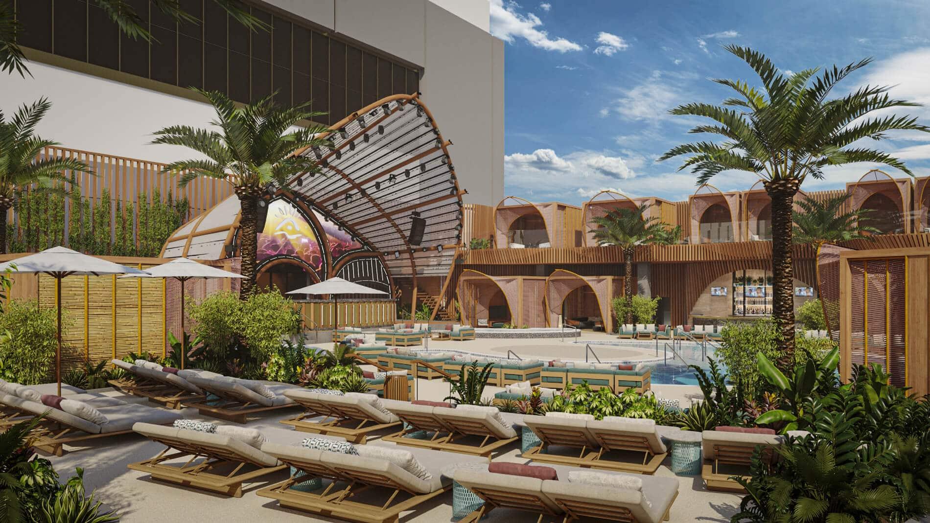 pool party ayu dayclub stage at resorts world las vegas