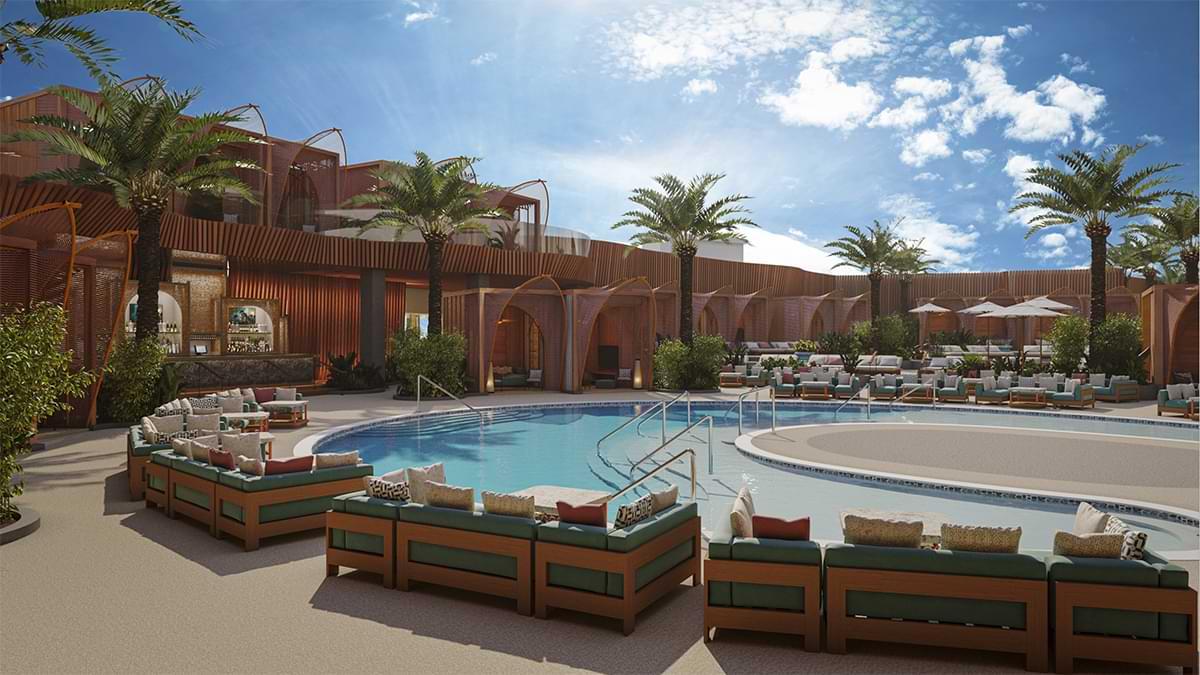 vegas resorts world pool party ayu dayclub